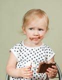 贪婪的小女孩 库存照片