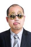 贪婪的银行家 库存图片