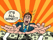 贪婪财富货币业务概念 皇族释放例证