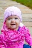 婴儿女孩纵向 免版税库存照片