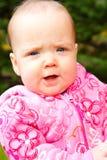 婴儿女孩纵向 库存图片