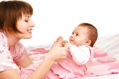 婴儿妈妈 图库摄影