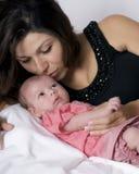婴儿母亲 库存照片