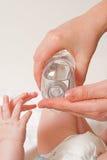 婴儿润肤油 库存图片
