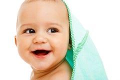 婴儿笑 免版税库存照片