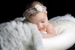 婴儿纵向 免版税库存照片
