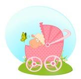 婴儿车杂文绵羊 向量例证