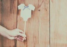 婴儿送礼会的装饰 免版税库存照片