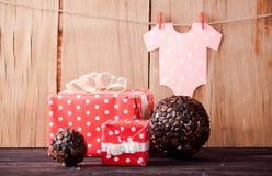 婴儿送礼会的装饰 免版税库存图片