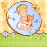 婴儿送礼会看板卡 图库摄影