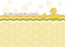 婴儿送礼会邀请看板卡 免版税库存图片