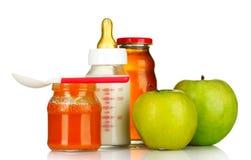 婴儿食品果子 库存照片