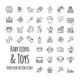 婴孩、玩具、比赛,哺养和关心被设置的传染媒介象 库存照片