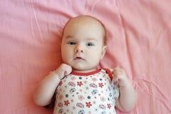 婴孩一揽子四个月的粉红色 免版税库存照片