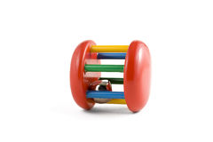 婴孩五颜六色的查出的玩具 免版税库存图片