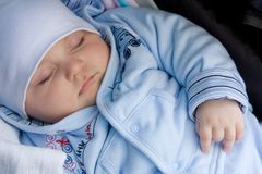 婴孩休眠 图库摄影