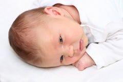 婴孩位于新出生 库存图片