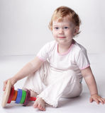 婴孩作用 免版税库存照片