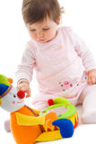 婴孩保险开关使用 免版税库存图片