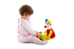 婴孩保险开关使用 图库摄影