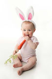 婴孩兔宝宝复活节 免版税库存图片
