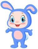 婴孩兔宝宝 皇族释放例证