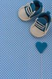 婴孩公告 新出生的背景 方旦糖辅助部件 免版税库存图片