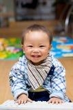 婴孩关键董事会个人计算机作用 库存图片