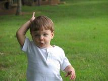 婴孩冷静说法 库存照片