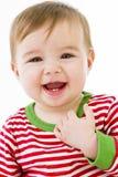 婴孩出牙 库存图片