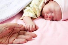 婴孩出生的新 免版税库存图片