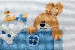 婴孩刺绣设计 免版税库存图片