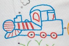 婴孩刺绣设计 库存图片
