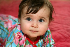 婴孩前面 免版税库存图片