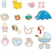 婴孩动画片事情 库存照片
