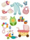 婴孩动画片图标东西 免版税库存图片