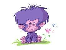 婴孩动画片逗人喜爱的猴子 库存例证