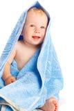 婴孩包括毛巾 免版税图库摄影
