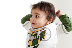 婴孩印地安人笑 免版税库存图片
