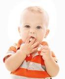 婴孩吃 免版税库存图片