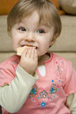 婴孩吃 库存照片