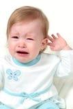 婴孩哭泣的女孩 免版税库存图片