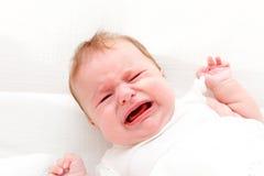 婴孩哭泣 免版税图库摄影