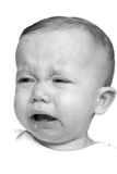 婴孩哭泣 免版税库存图片