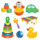 婴孩图标集合玩具 皇族释放例证