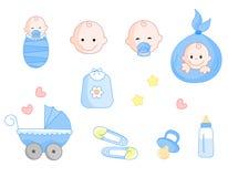 婴孩图标集 库存例证