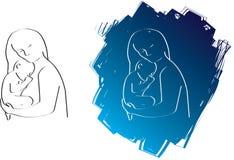 婴孩图画线路妈咪 皇族释放例证