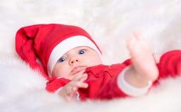 婴孩圣诞老人 免版税库存图片