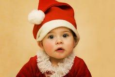 婴孩圣诞节圣诞老人 图库摄影