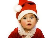 婴孩圣诞节圣诞老人 免版税库存照片